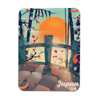 Iman Flor de Japón del poster de las vacaciones del