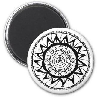 Imán Flor espiral de la mandala