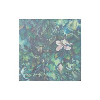 Imán floral del mármol tropical de la magnolia