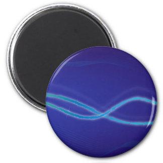 Imán Fondo azul abstracto en espacio