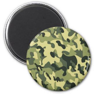 Imán Fondo verde del modelo del camuflaje del negro del
