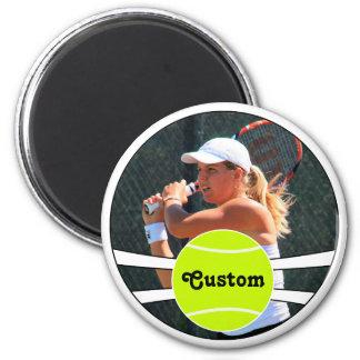 Imán Foto de encargo del jugador del jugador de tenis y