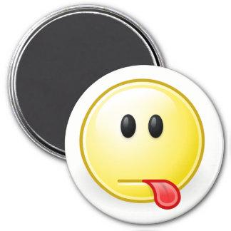Imán Frambuesa Emoji de la cara del gnomo
