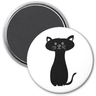 Imán Gatito negro del dibujo animado