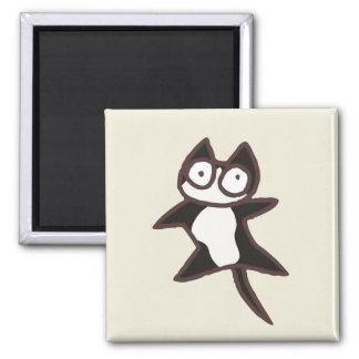 Imán Gato bicolor blanco y negro