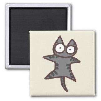 Imán Gato de Tabby gris