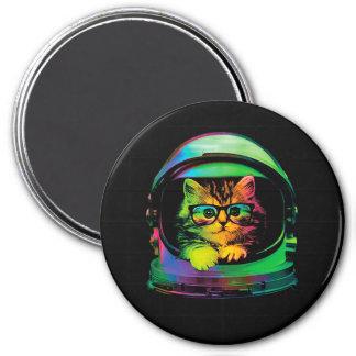 Imán Gato del inconformista - astronauta del gato -