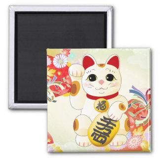 Imán Gato japonés de la fortuna de Maneki Neko