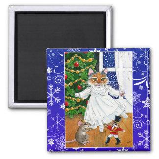 Imán Gato lindo, ballet del cascanueces, navidad, ratón