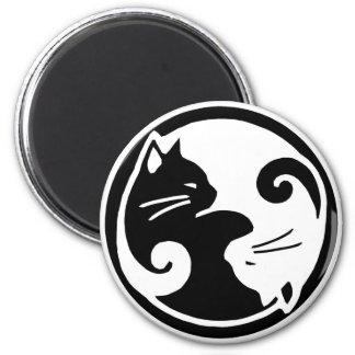 Imán Gatos de Yin Yang