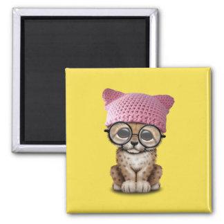 Imán Gorra del gatito de Cub del guepardo que lleva