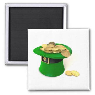 Imán Gorra del Leprechaun llenado de oro