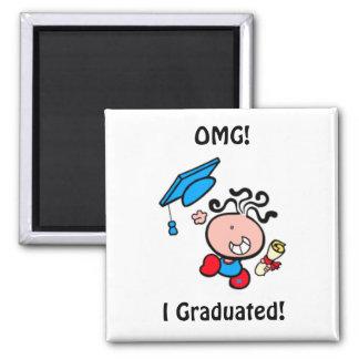 Imán graduado del dibujo animado de OMG I