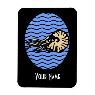 Imán gráfico del nautilus con su nombre