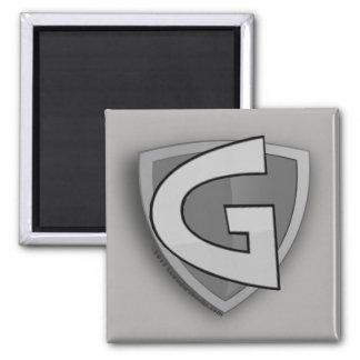 Imán gris del hombre