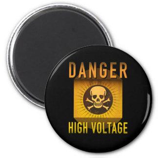 Imán Grunge retro de alto voltaje de la edad atómica