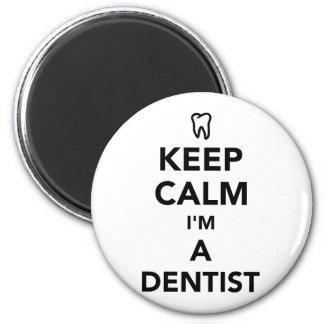 Imán Guarde la calma que soy dentista