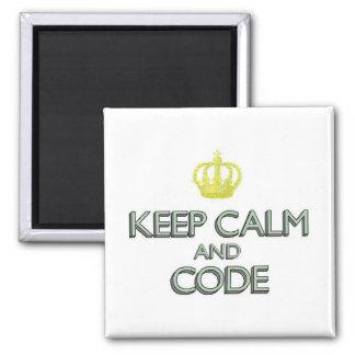 Imán Guarde la calma y el código