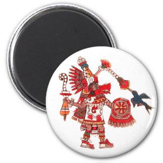 Imán Guerrero azteca del shaman del baile