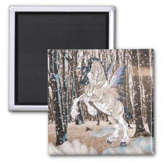 Imán Hada del caballo de Clydesdale de la fantasía
