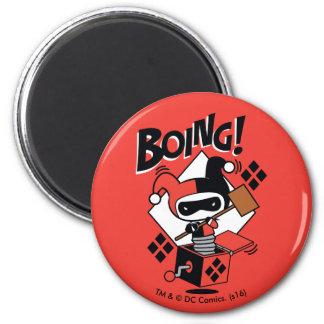 Imán Harley-Quinn-En-UNO-Box de Chibi con el martillo
