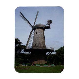 Imán holandés de la foto del molino de viento de
