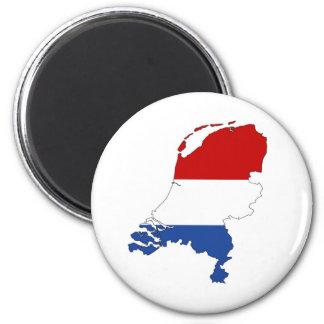 Imán holandés holandés de la forma del mapa de la