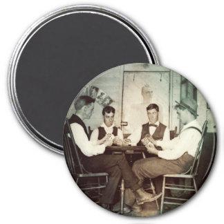 Imán Hombres 1890 del juego de póker que juegan la foto