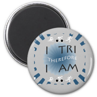 Imán I tri por lo tanto soy Triathlon