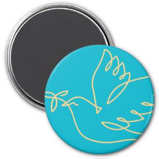 Imán Icono de la paloma de la paz