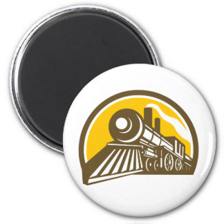 Imán Icono del tren de la locomotora de vapor