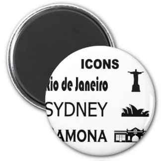 Imán Icono-Río-Sidney