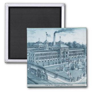 Imán Imagen 1871 de la fábrica del reloj de Elgin Elgin