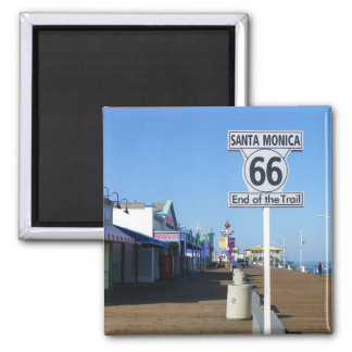 Imán ¡Imán de la ruta 66 de Santa Mónica!