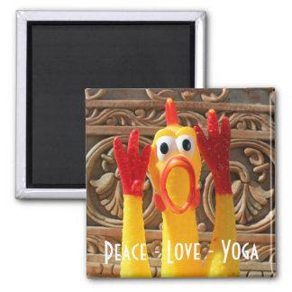 Imán ¡Imán de la yoga del pollo de la diversión!
