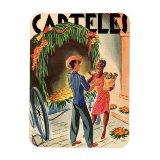 Imán Iman de Nevera Cartel Cuba Vintage Ilustraciones