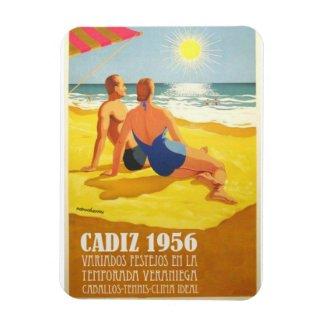 Imán Iman Vintage Cadiz Turismo Soy de Cadiz