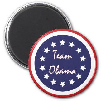 Imán Imanes patrióticos del círculo azul de Obama del