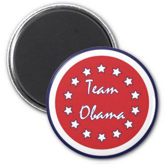 Imán Imanes rojos del círculo de Obama del equipo