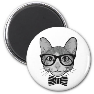 Imán Inconformista blanco negro del gato con la