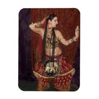 Imán indio de la bailarina de la danza del vientre
