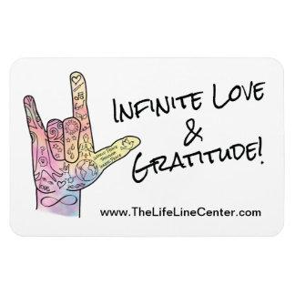 Imán infinito del amor y de la gratitud - 4 x 6