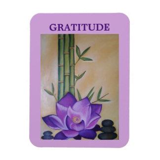 Imán inspirado púrpura de la flor de Lotus