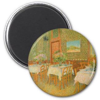 Imán Interior de un restaurante de Vincent van Gogh