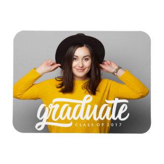 Imán intrépido de la foto de la graduación del