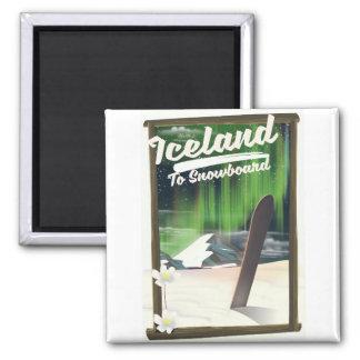 Imán Islandia a la snowboard