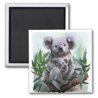 Imán Koala y su bebé