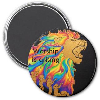 Imán La adoración se está presentando