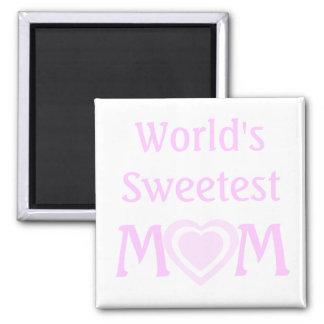Imán La MAMÁ más dulce del mundo simple con los
