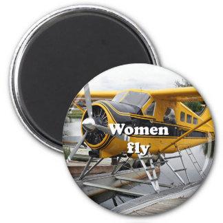 Imán Las mujeres vuelan: avión del flotador, capilla